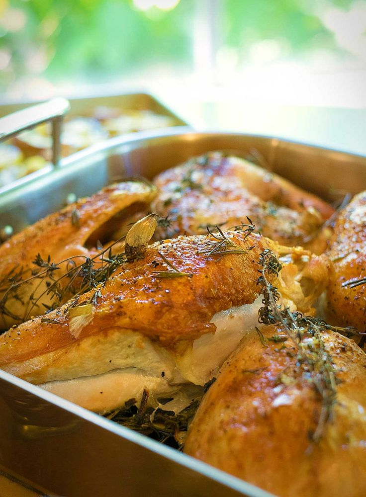 Put a new twist on your traditional Thanksgiving this year with our easy to use kitchen shears and these unique, time-saving recipes. Try this herb-roasted turkey recipe!