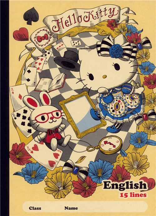 Alice in Wonderland Hello Kitty notebook fairy tale exercise book
