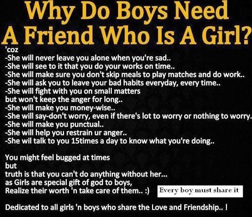 Boy N Girl Friendship Quotes: Mostly True :)