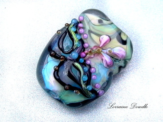 """Mystère Glass Mask Collector's item  """"Cirque""""  bead :) SRA Sold"""