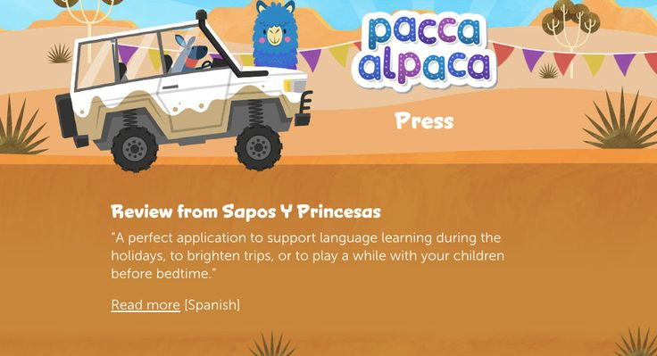 What a lovely review for our language learning app from the fantastico Sapos y Princesas! Muchas gracias y un fuerte abrazo, Pacca Alpaca xxx goo.gl/PnDniA