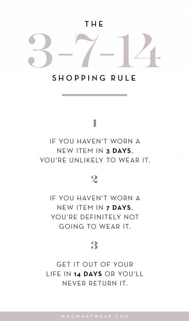 Consider this shopping rule before you spend money on anything