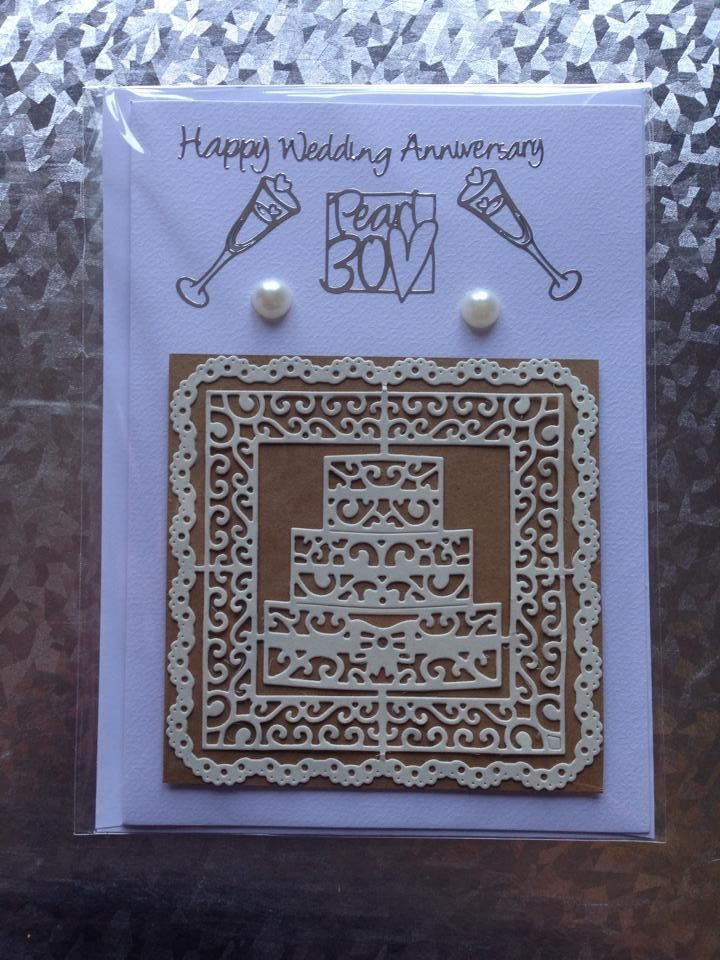 Hand-made Pearl Anniversary Card