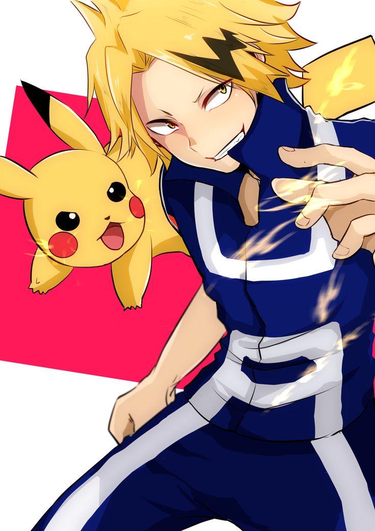 My hero academia x Pokemon|| Kaminari Denki and Pikachu