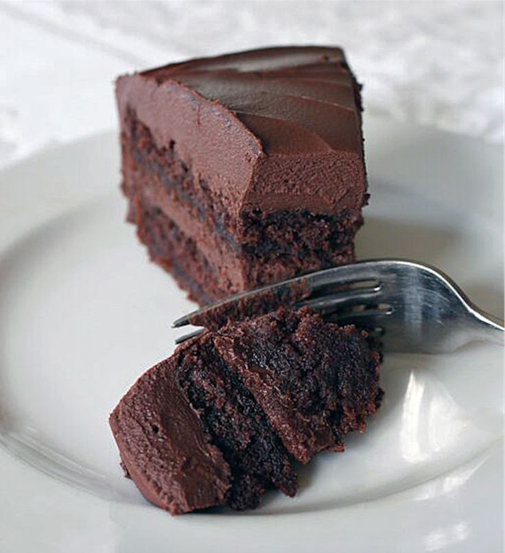 """I couldn't help but hear the ongoing chant of """"Bruce! Bruce! Bruce!"""" when I first took a bite of the chocolate cake I baked. Granted, the scene from Matildawhere Trunchbull made Bruce Bogtrotter finish off a giant chocolate cake is slightly nauseating, but c'mon, the cake looked pretty darn good. And I can bet Bruce …"""