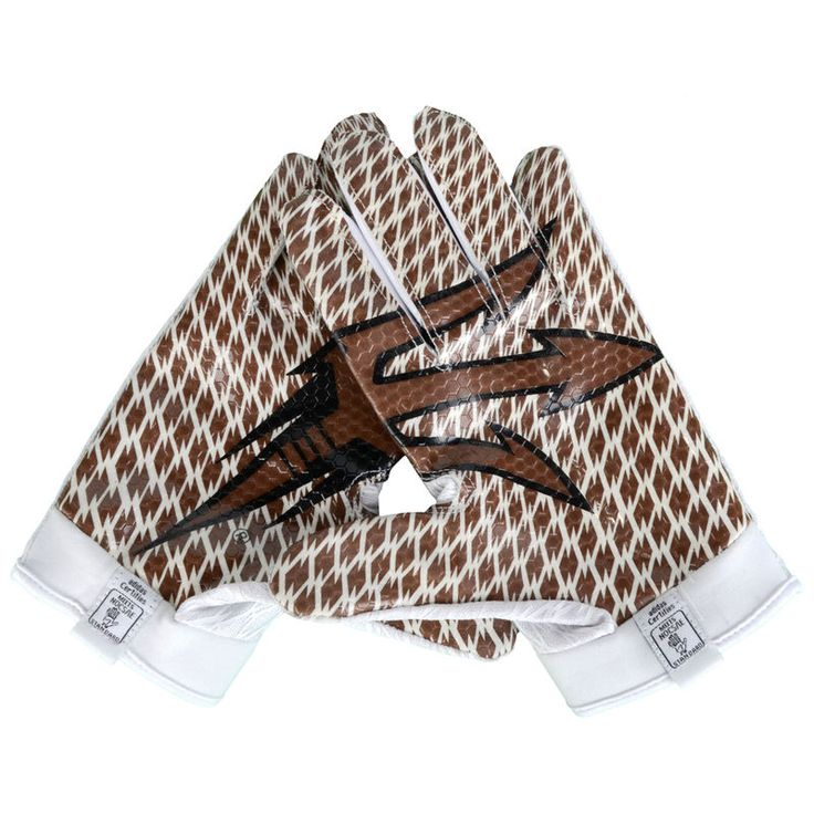 Arizona State Sun Devils Fanatics Authentic Team-Issued White and Bronze Adidas Zero Gloves from the 2015 Season - Size XL