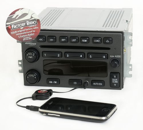 Reman & Aux Mod SERVICE for 2003-06 Hyundai Santa Fe AMFM 6 Disc CD Player Radio