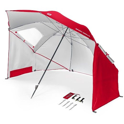 Sport-Brella<br><br>A beach umbrella, sun tent, rain shelter, and more all in one, the Sport-Brella gives you instant portable protection from the elements regardless of your activity. The Sport-Brella looks somewhat like a traditional beach shelter/umbrella, with a large canopy that shields an entire family or team while they lounge on the beach or hang out on the soccer sidelines. The similarities end there, however, as the Sport-Brella sets up in just three seconds. As a r...