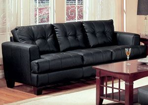 samuel black sofa leather