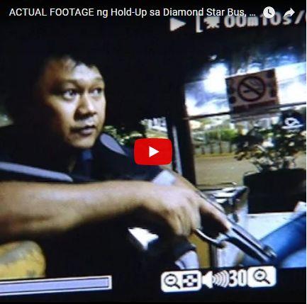 NAKAKAGULAT ! ACTUAL FOOTAGE NG HOLD-UP SA DIAMOND STAR BUS OFF-DUTY OFFICER NILIGTAS ANG MGA PASAHEROS NG BUS!PANOORIN