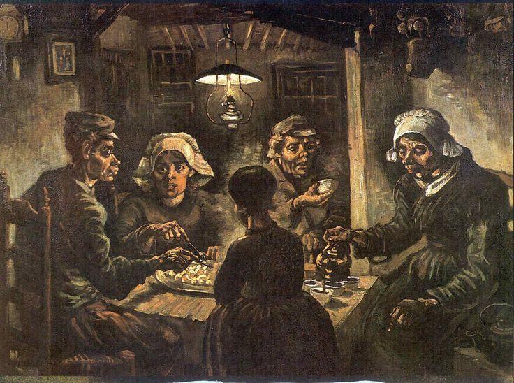 Hoofdstuk 4 pag. 76  Vincent van Gogh; De aardappeleters 1885