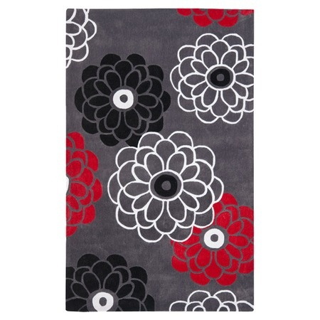 i pinned this modern art rug in dark gray from the black white red cheerful home office rug wayfair safavieh