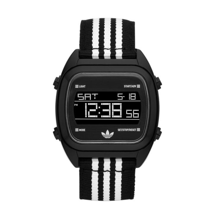 Ideal for the devoted athlete, this adidas watch comes with comprehensive features that provide the wearer with the necessary tools to meet their personal training goals. The nylon band and buckle clasp ensure that the watch stays securely fastened to your wrist during any activity. This watch is the perfect gadget for those on the go.  R899.00  http://www.watchrepublic.co.za/brand/adidas/men/adidas-sydney-watch