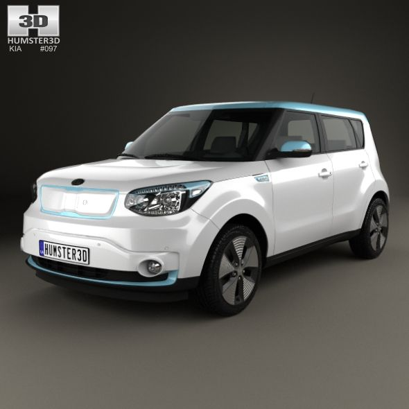 Kia Soul Ev 2016 By Humster3d The 3d Model Was Created On Real Car Base It S Created Accurately In Real Units Of Measurement Qual Kia Soul Kia Car 3d Model