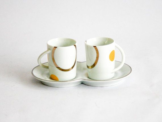 Set di tazze di caffè di Carlo Pignatelli Limoges di DoubleRandC