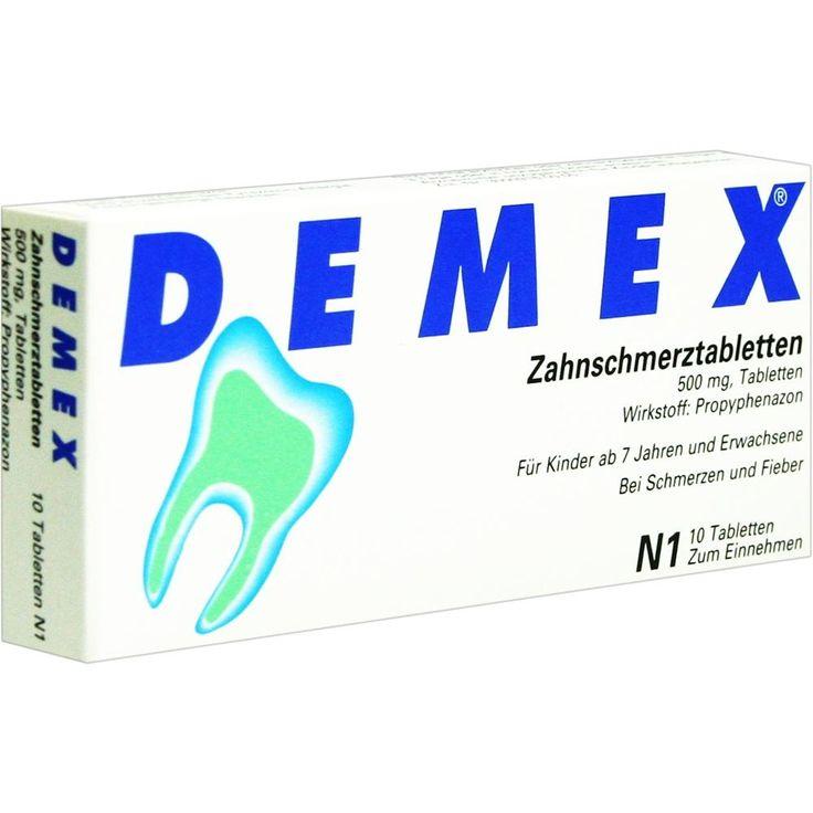 DEMEX Schmerzmittel gegen Zahnschmerzen Zahnschmerztabletten:   Packungsinhalt: 10 St Tabletten PZN: 04346244 Hersteller: BERLIN-CHEMIE…