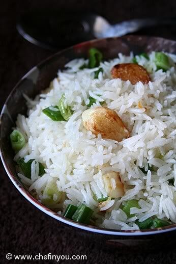 Garlic fried rice, Fried rice recipes and Fried rice on Pinterest