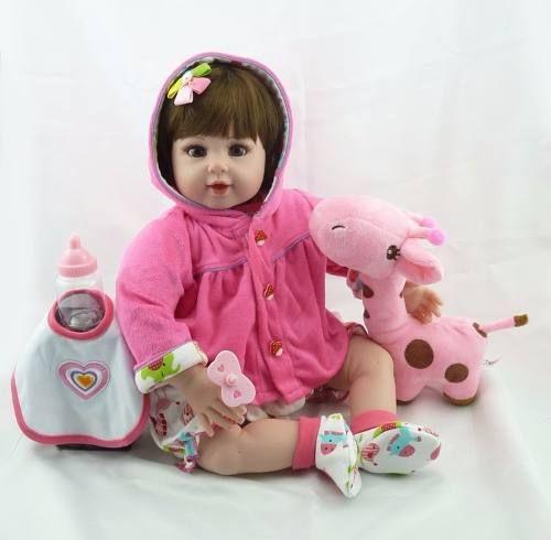 Bebê Reborn Amanda Realista 52 Cm - Pronta Entrega  bebê, bebe reborn, bebê reborn, reborn, boneca,  boneca reborn, bonecas reais, bebês reais, bonecas de verdade, bebês quase reais, boneca de verdade, bebê real, adora doll, brinquedos, reborn barata, reborn promoção, reborn mais vendido, mais vendido,