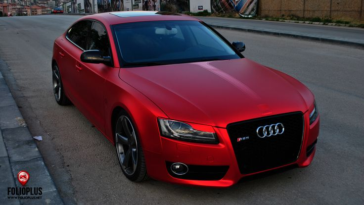 Audi a5 chrome red matt folioplus car wrapping