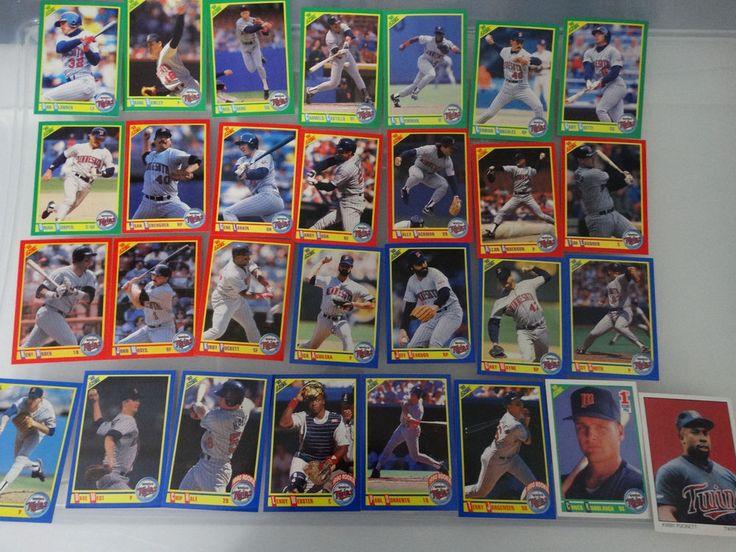 1990 Score Minnesota Twins Team Set of 29 Baseball Cards #MinnesotaTwins