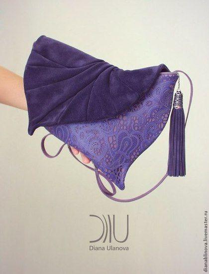 """Клатч """"Лист"""" 4 - Кожаная сумка,сумка ручной работы,сумка женская,подарок женщине"""