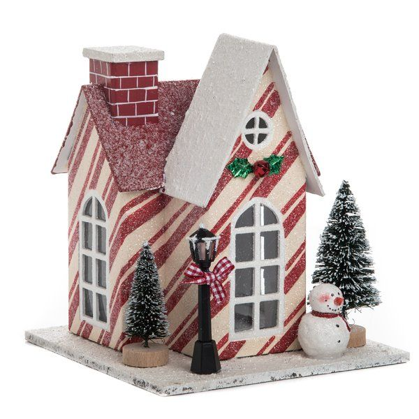 Light Up Your Home This Christmas With The Holiday Houses Papercraft Kit Christmas House Christmas Home Glitter Houses