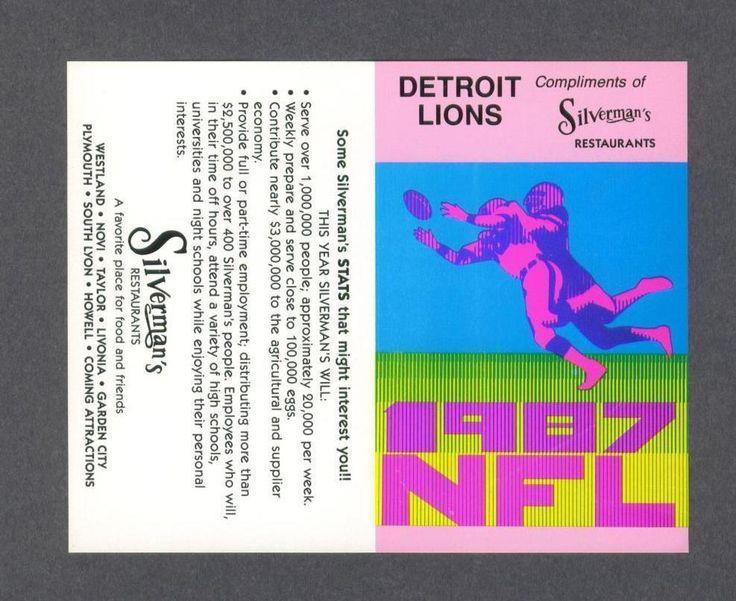 1987 Detroit Lions NFL football schedule
