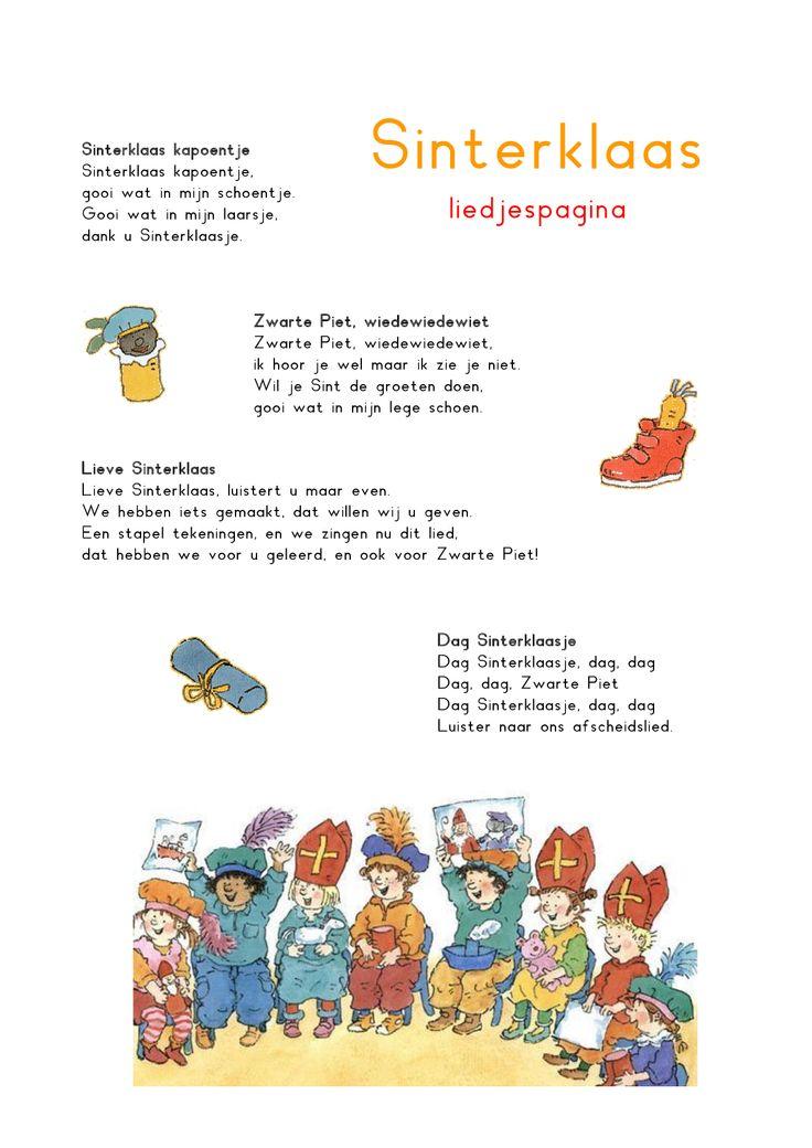 Liedjespagina: Sinterklaas