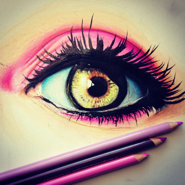 Pics For > Drawing Of An Eye In Color