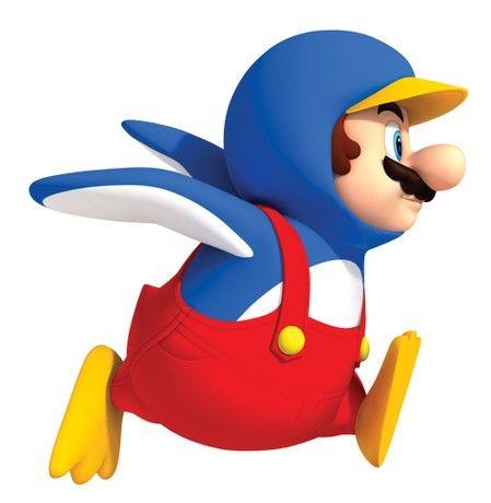 RoomMates Repositionable Childrens Giant Wall Stickers Nintendo Super Mario Bros Penguin