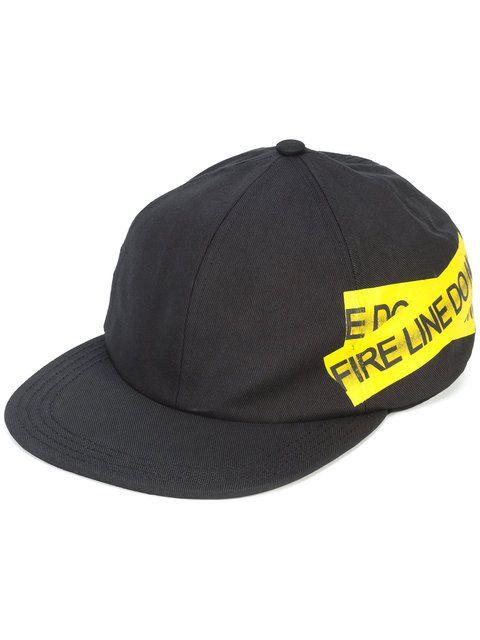 Off-White Fire Tape Cap - Farfetch  80b6cc5e73f