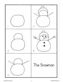 Ιδέες για δασκάλους:Ζωγραφίζουμε χιονάνθρωπο και Άη Βασίλη με οδηγίες!