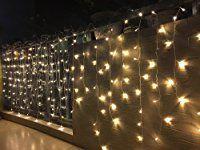 BLOOMWIN 256LED 6Mx1M Guirnaldas Cortinas LED Luces con 8 Modelos de Iluminación hadas cadena para Navidad, balcón, ventana, pared, boda, fiesta,blanco calido