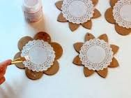 Image result for paper doily flowers