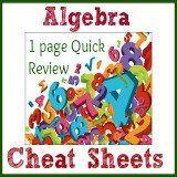 algebra cheat sheets | algebra formulas