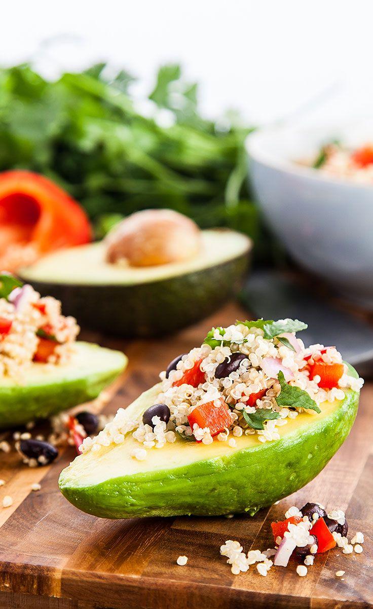 #Recipe: Mexican Avocado Boats #VeganRecipes #AvocadoRecipes