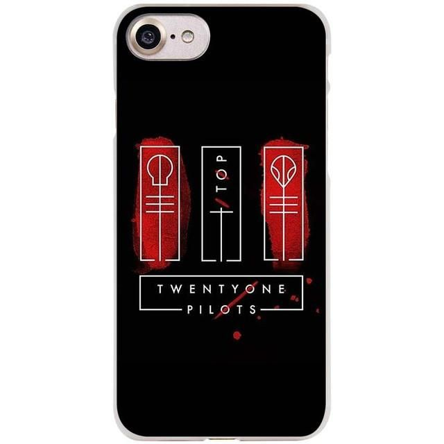 21 Pilots twenty one pilots Clear Cell Phone Case Cover for Apple iPhone 4 4s 5 5s SE 5c 6 6s 7 Plus