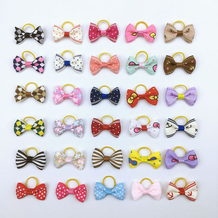(20 pieces/lot) Cute Ribbon Dogs Cats Hair Accessories Handmade High Quality Pet Hair Bows Dog Grooming Accessories 30 Colors //Price: $9.95 & FREE Shipping //     #hashtag1