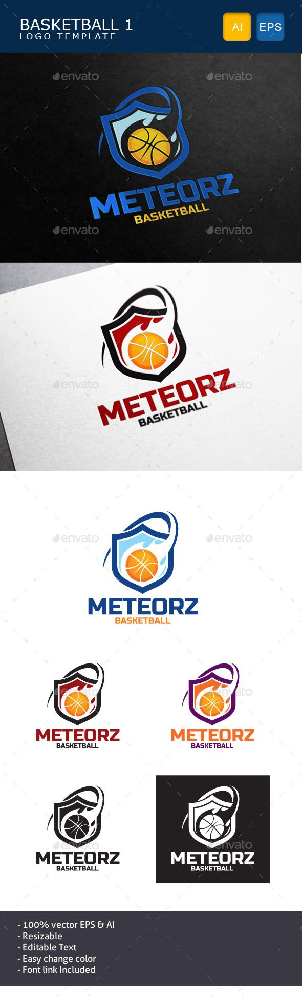 Basketball Logo — Vector EPS #competition #basketball • Available here → https://graphicriver.net/item/basketball-logo/11024430?ref=pxcr