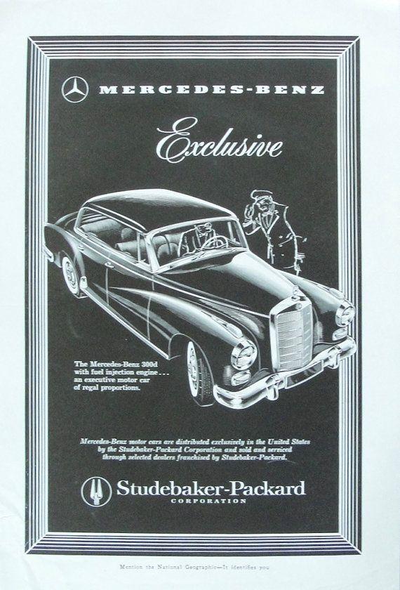 1958 Mercedes Benz 300d Auto Advertisement Vintage Decor