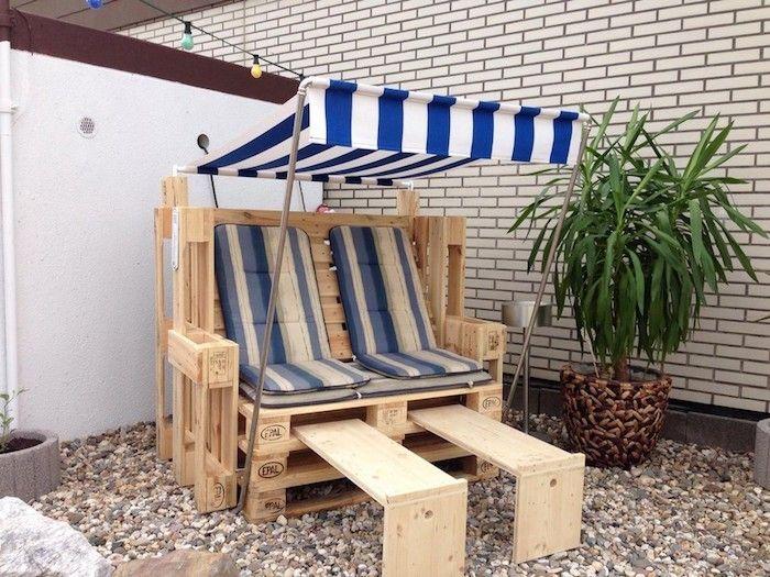 meuble de jardin en palette idée pour fabriquer des meubles en palettes design construire chaise longue