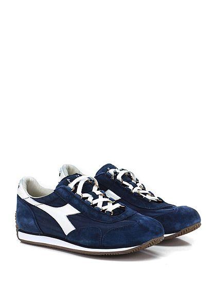 DIADORA Heritage - Sneakers - Uomo - Sneaker in tessuto e camoscio effetto vintage con suola in gomma. Tacco 15. - NAVY - € 155.00