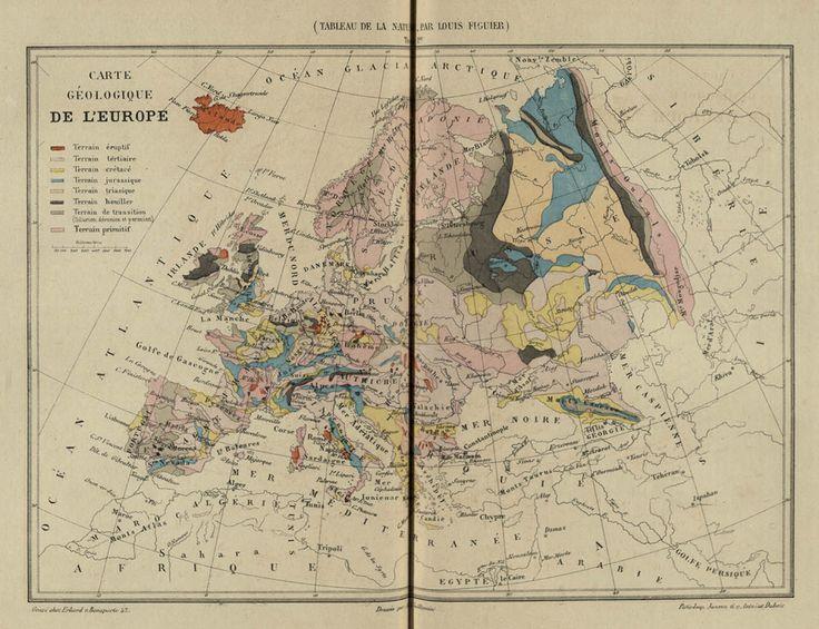 Carte géologique de l'Europe #mappa #carta #Europa #geologia #terra