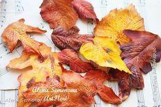 Мастер-класс Мастер-класс осенние листья из фоамирана Фоамиран фом фото 1