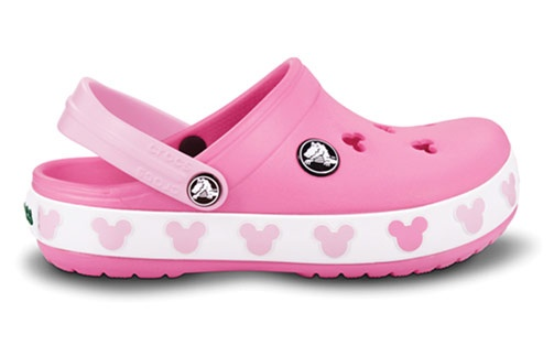 Pink mickey crocband crocs.  These are so cute...on my list for Lauren!