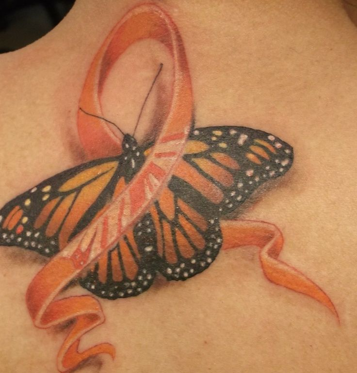 orange ribbon tattoo for M.S. - Google Search