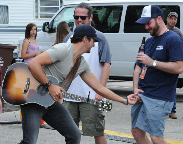 exclusive country star luke bryan does a crotch grab