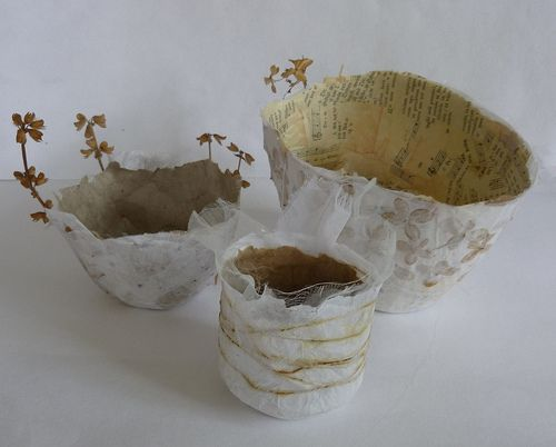 paper bowls by Ines Seidel