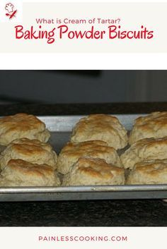 What is cream of tartar? Cream of tartar is important to use in making this baking powder biscuit recipe.