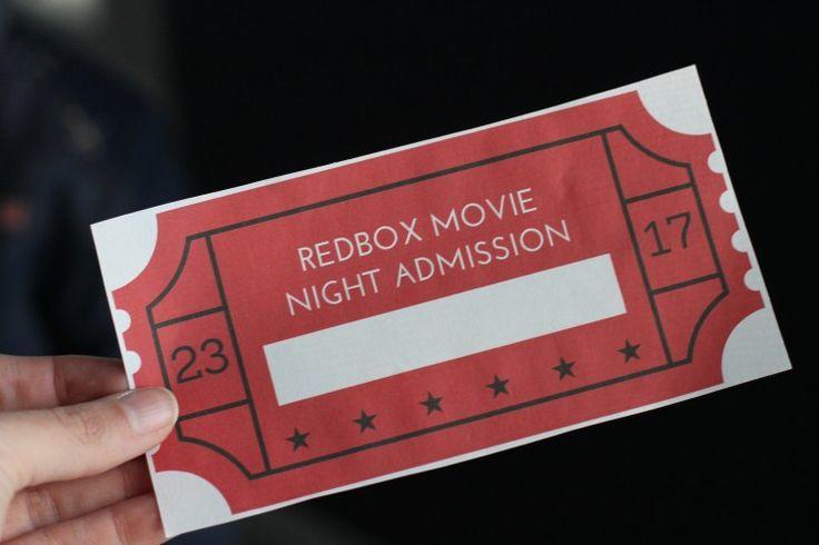 redbox printable